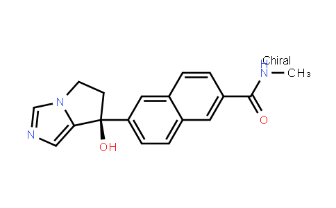 6-[(7S)-7-Hydroxy-6,7-dihydro-5H-pyrrolo[1,2-c]imidazol-7-yl]-N-methyl-2-naphthalenecarboxamide