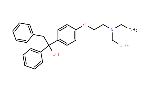 aLpha-[4-[2-(diethylamino)ethoxy]phenyl]-alpha-phenylphenethyl alcohol